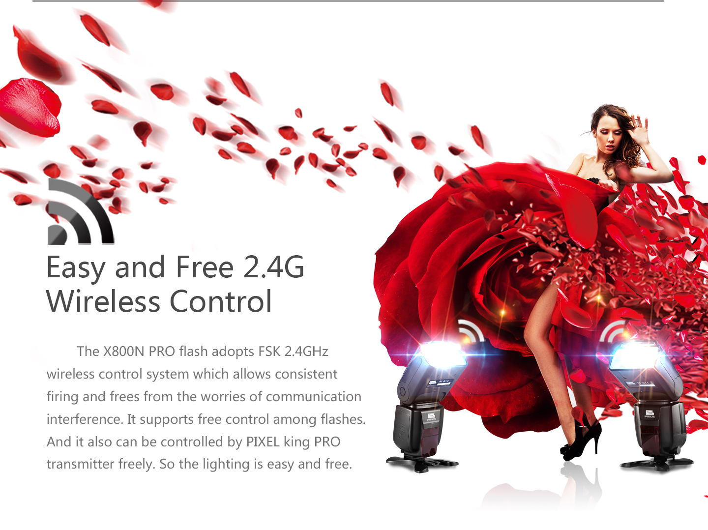 Easy and Free 2.4G Wireless Control