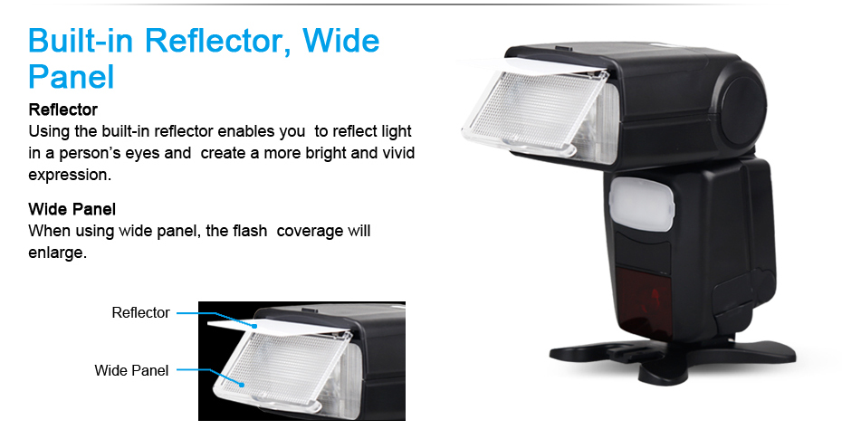 Built-in Reflector, Wide, Panel