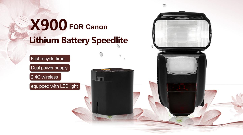 X900 FOR Canon Lithium Battery Speedlite