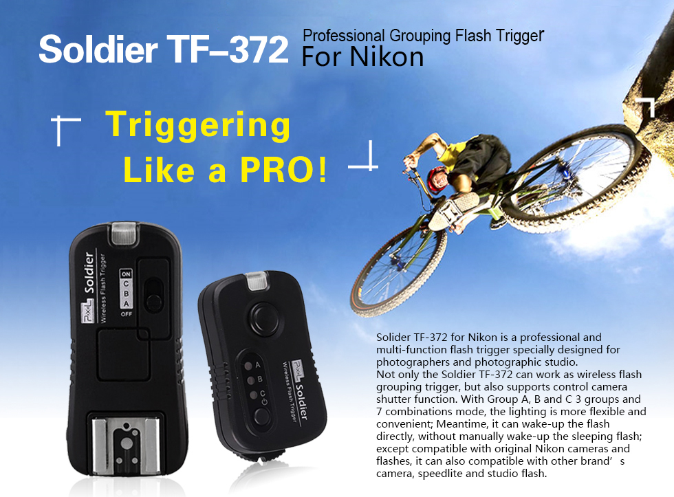 Soldier TF-372 Professonal Grouping Flash Trigger