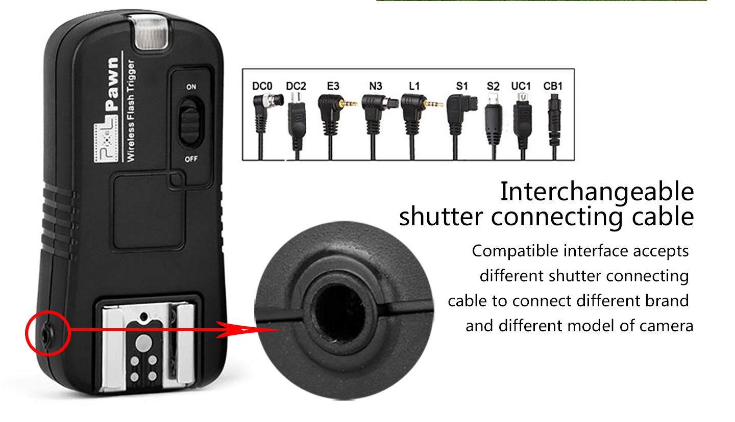 Interchaneable shutter connecting cable
