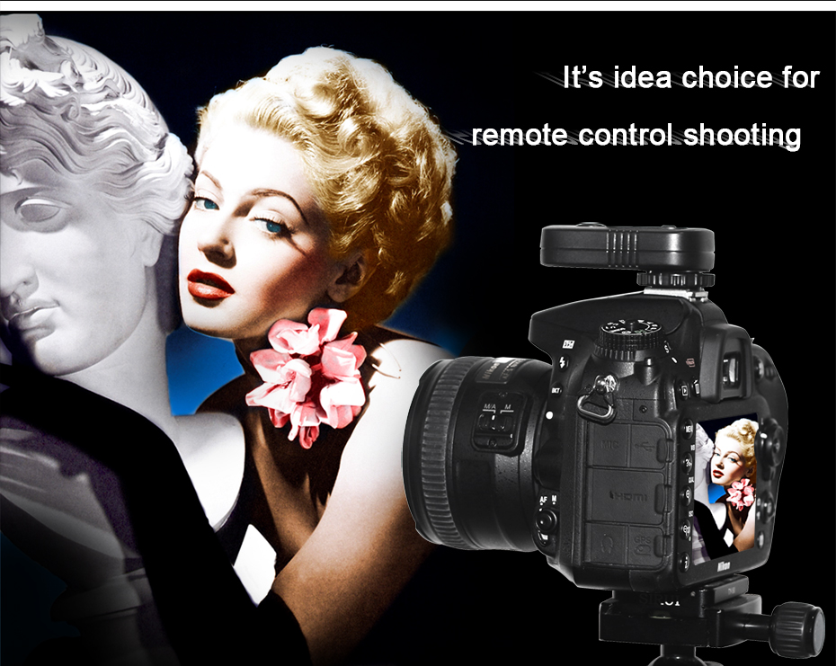 It's idea choice for remote cntrol shooting