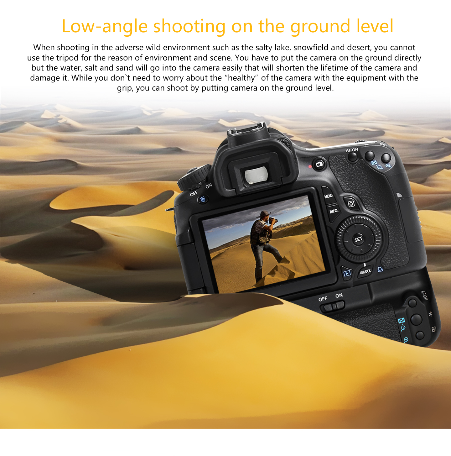 Low-angle shooting on the ground level