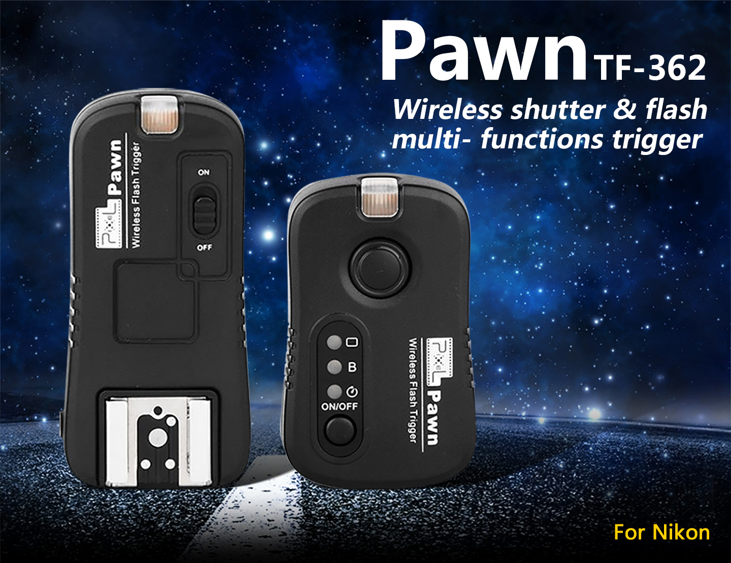 Pawn TF- 362 Wireless shutter & flash multi-functions trigger
