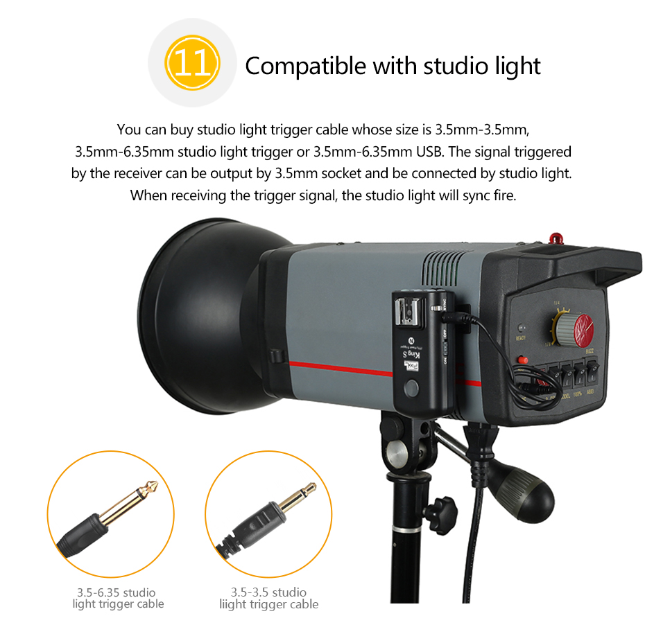 Compatible with studio light