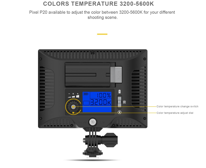 COLORS TEMPERATURE 3200-5600K