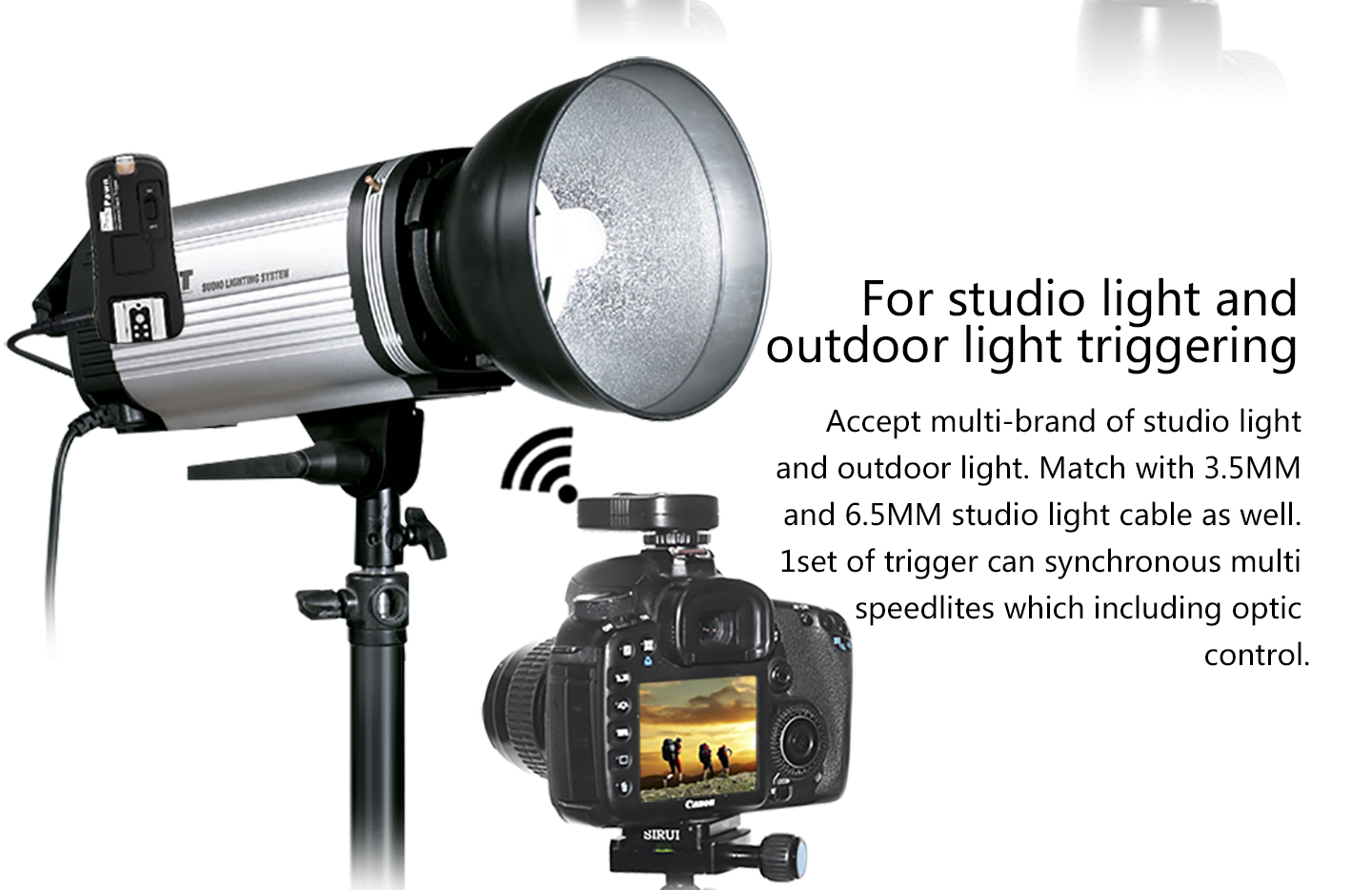 For studio light and outdoor light triggering