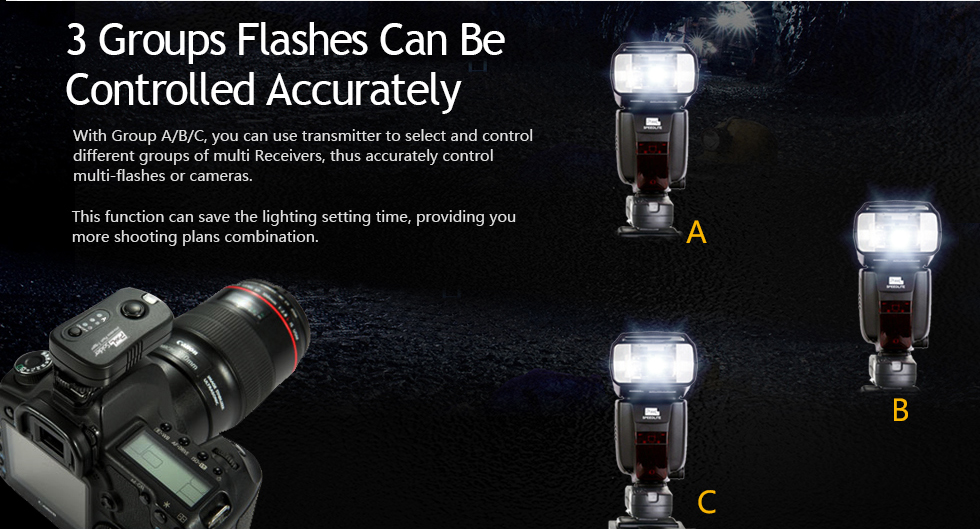 3 Groups Flashes Can Be Controlled Accurately