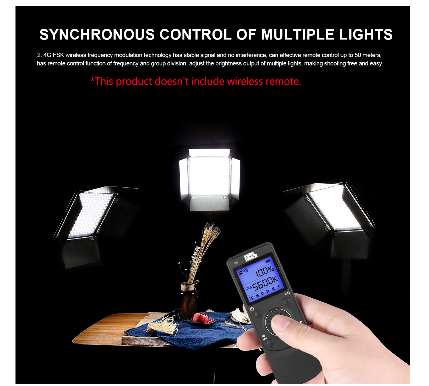SYNCHRONOUS CONTROL OF MULTIPLE LIGHTS
