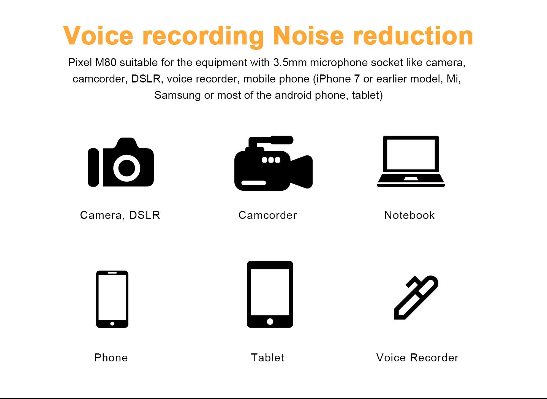 Voice recording Noise reduction