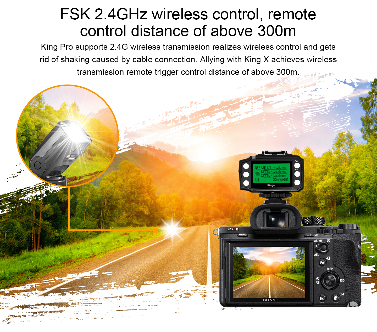 FSK 2.4GHz wireless control, remote control distance of above 300m