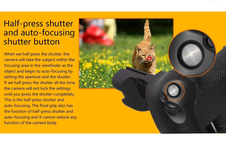 Half-press shutter and auto-focusing shutter button