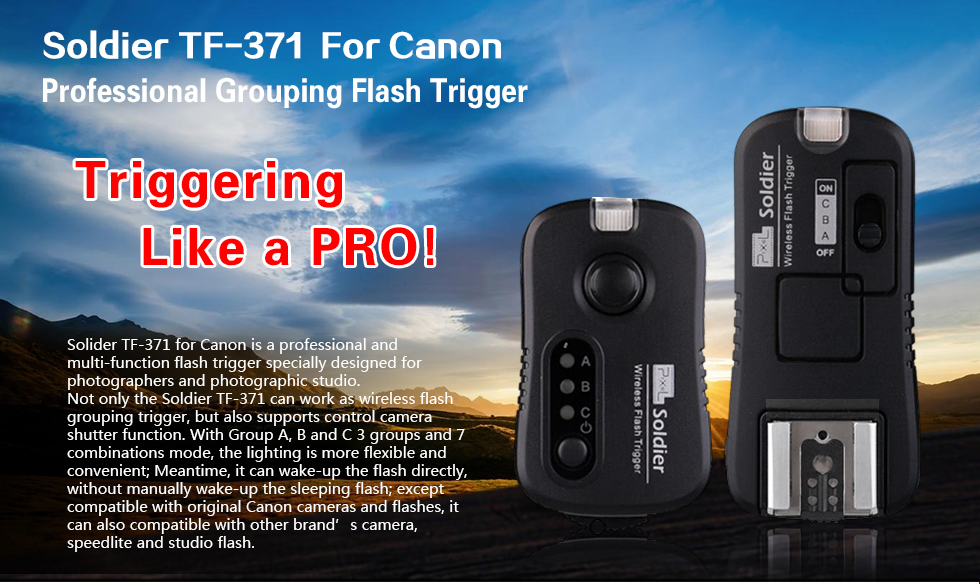 Soldier TF-371 For Canon Professional Grouping Flash Trigger