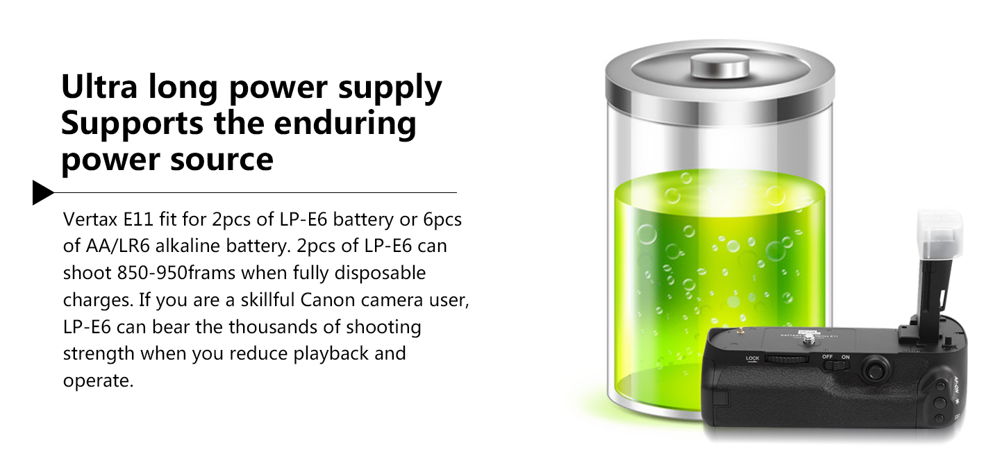 Ultra long power supply supports the enduring power source