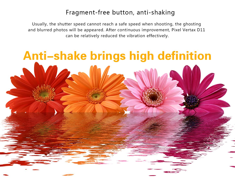 Fragment-free button, anti-shaking