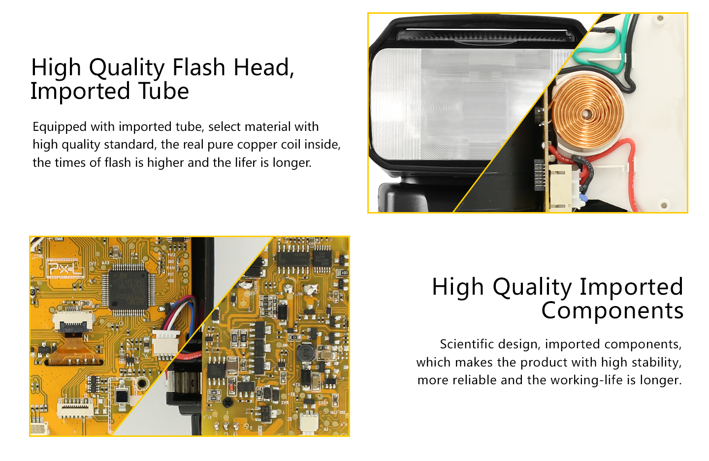High Quality Flash Head, Imported Tube, High Quality Imported Components