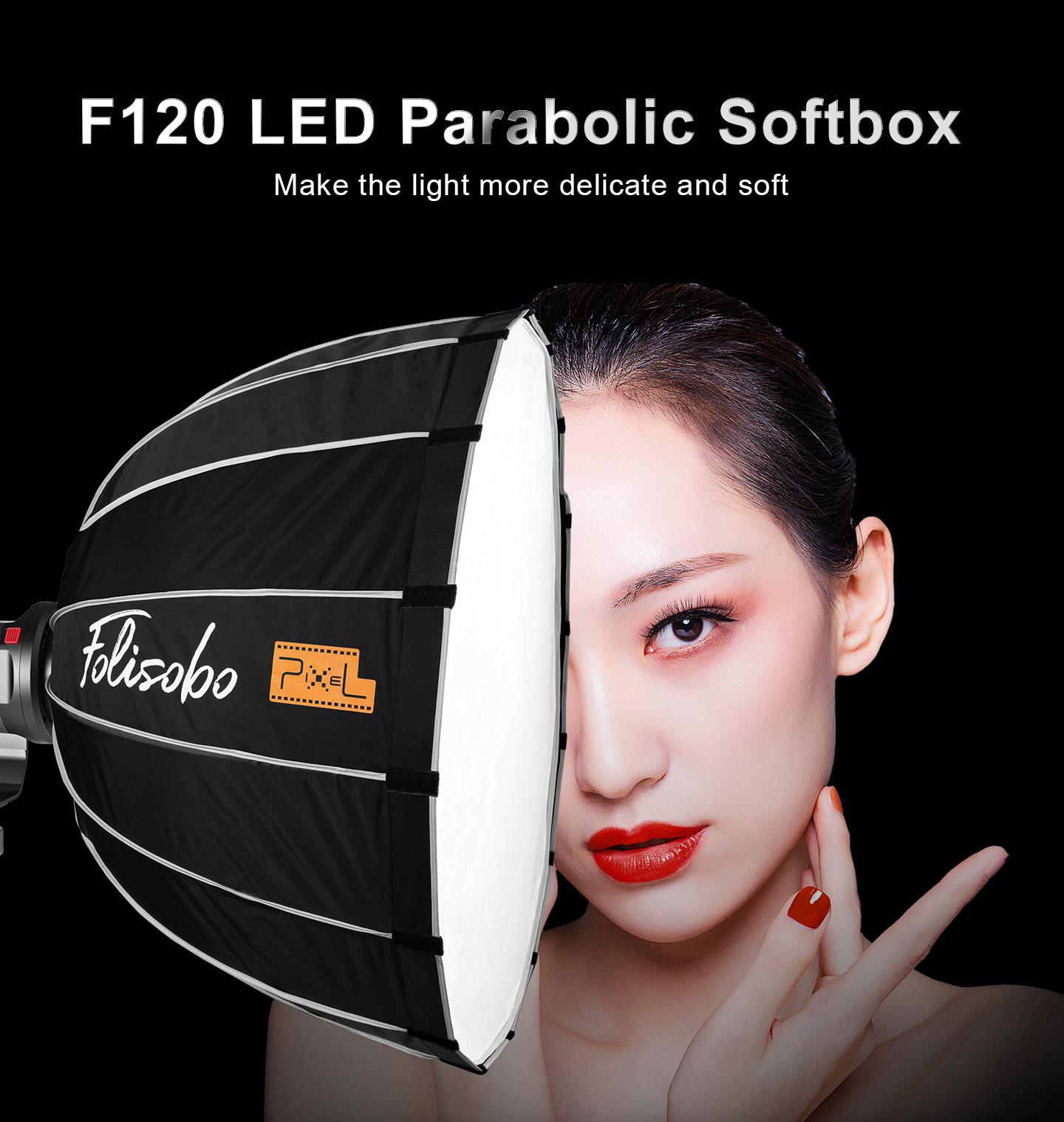 F120 LED Parabolic Sofebox