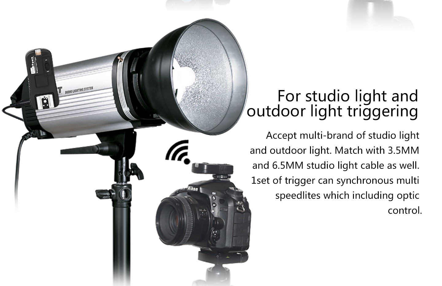 For studio light and outdooe light triggering