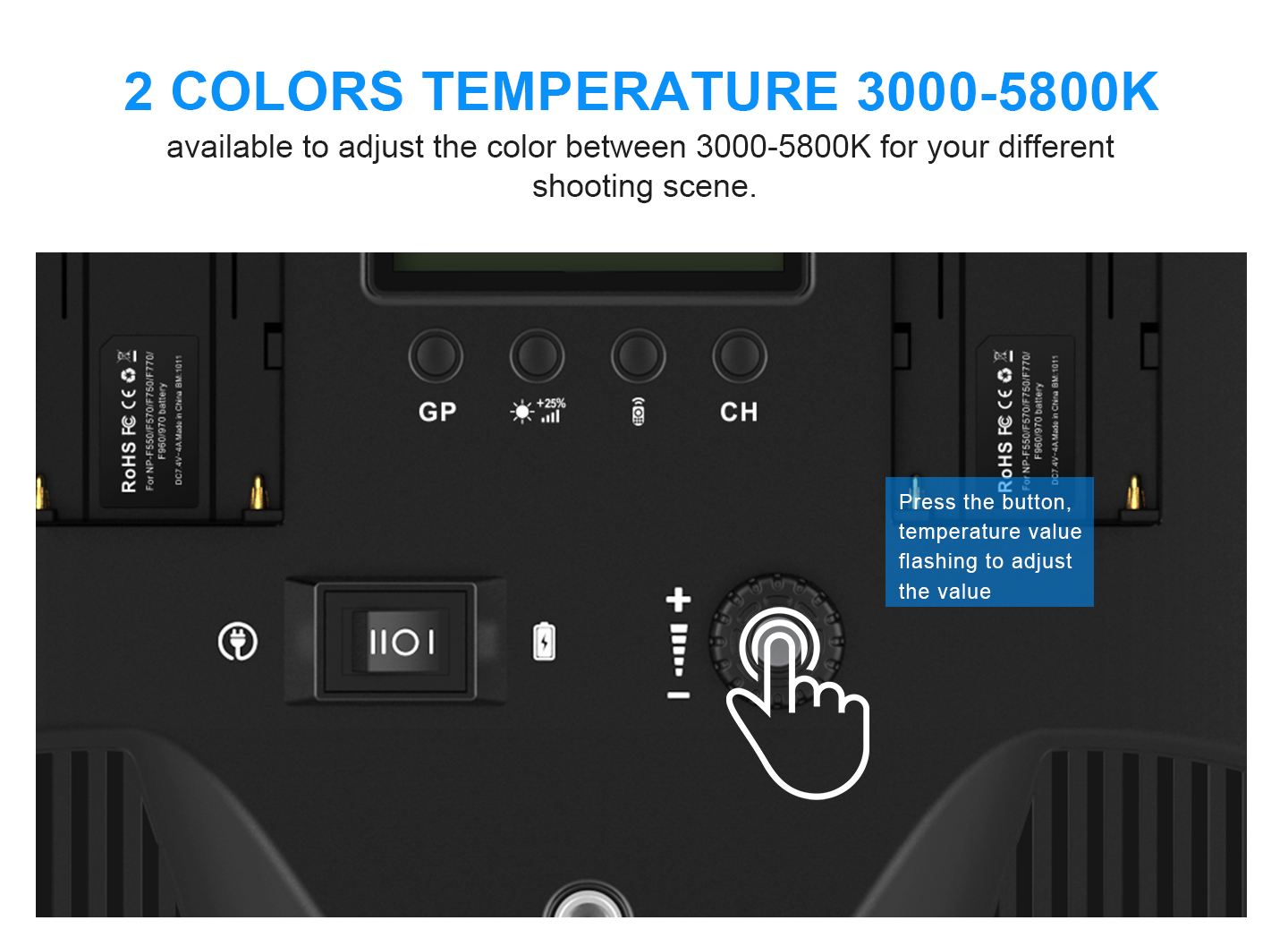 2 COLORS TEMPERATURE 3000-5800K