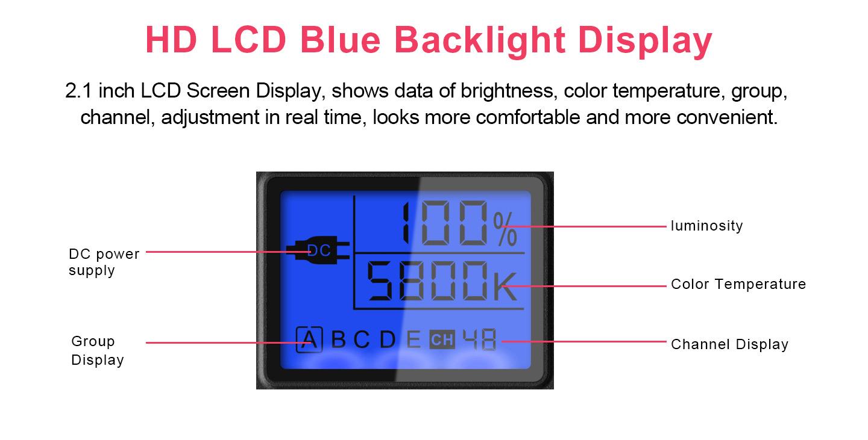 HD LCD Blue Backlight Display