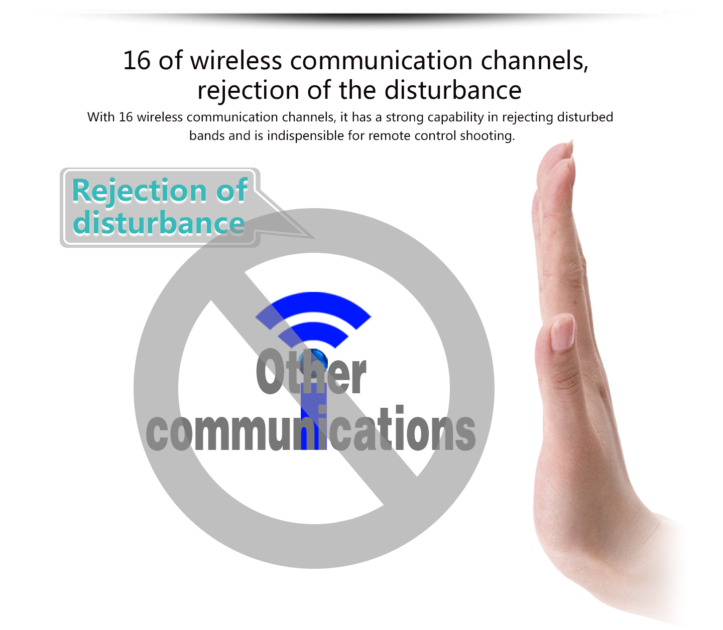 16 of wireless communication channels, rejection of the disturbance