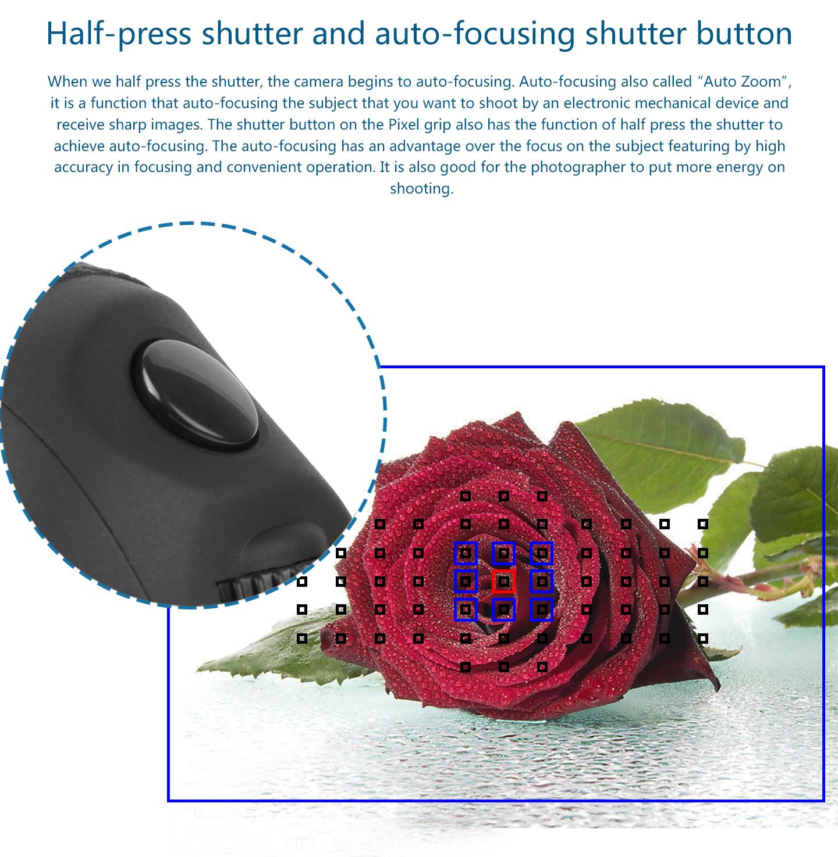 Hald-press shutter and auto-focusing shutter button