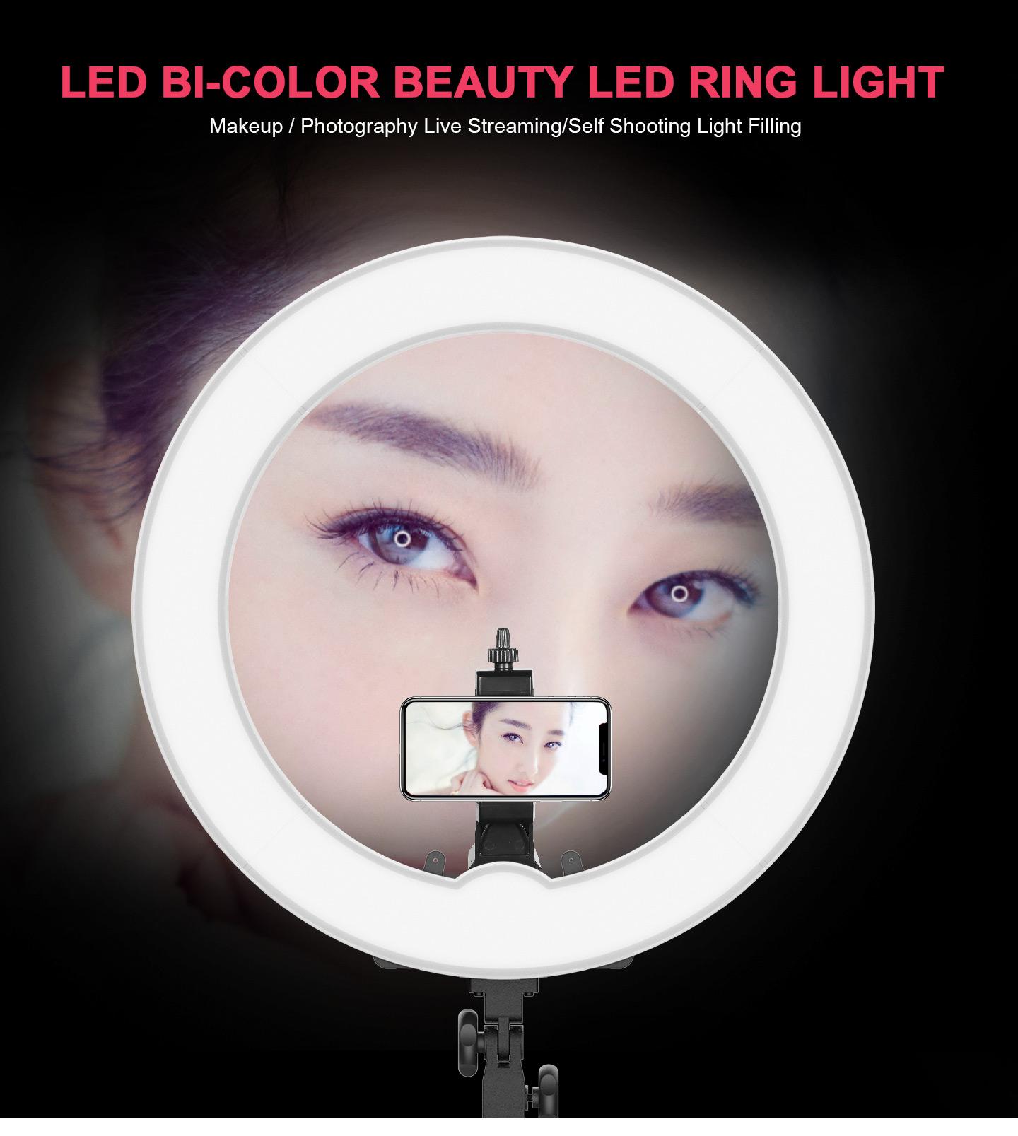LED BI-COLOR BEAUTY LED RING LIGHT