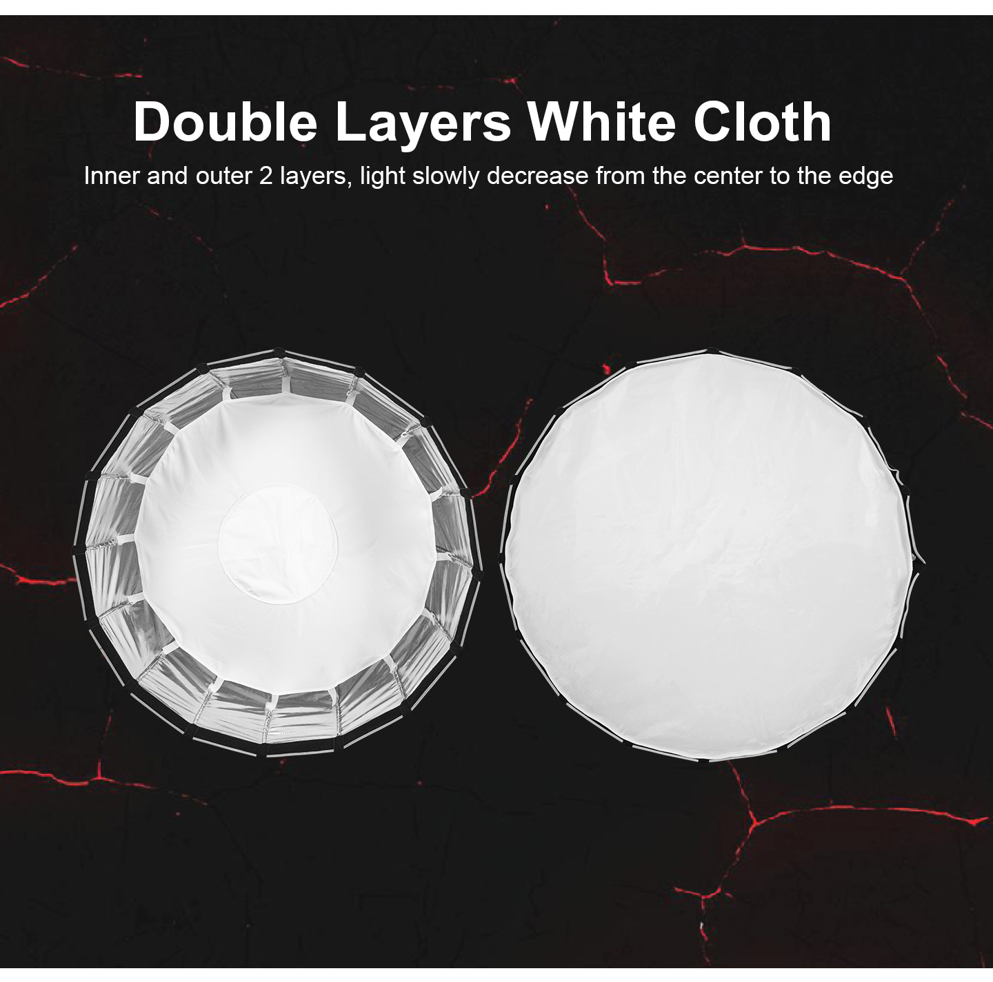 Double Layers White Cloth