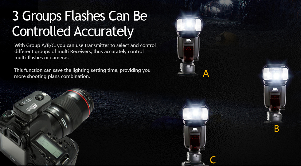3 Groups Flashes Can Be Controlled Accrately