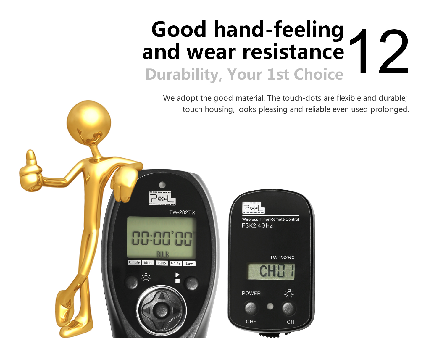 Good hand-feeling and wear resistance