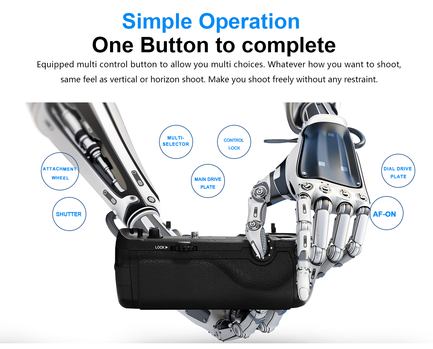 Simple Operation One Button to complete