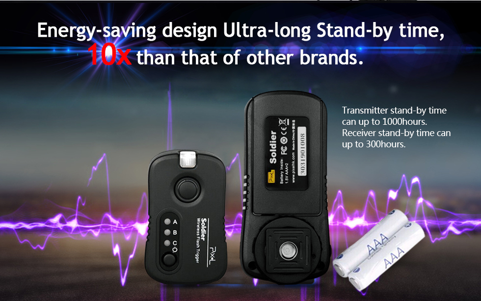 Energy-saving design Ultra-long Stand-by time, 10x than that of other brands