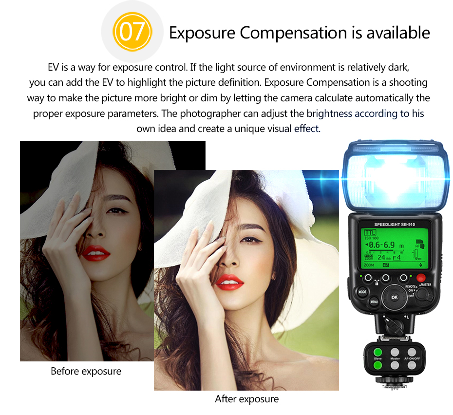 Exposure Compensation is available