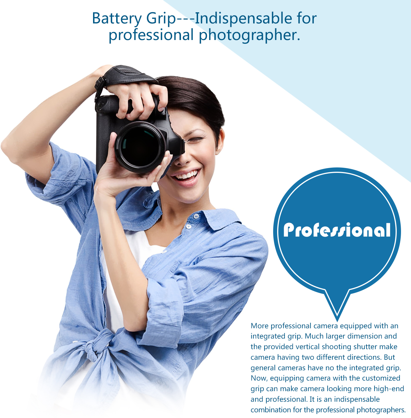 Battery Grip---Indispensable for professional photographer